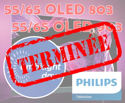 Philips OLED 4K SERIE 803-903- Commandes Groupées